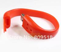 Genuine USB Drive 1GB 2GB 4GB 8GB 16GB 32GB Silicone PVC Rubber Wrist Band Memory Flash Stick Drive Red