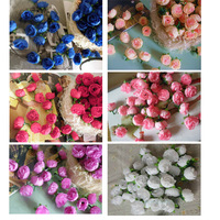 Hot free shipping 50pcs/lot artificial silk like Rose Flower simulation roses head for wedding party