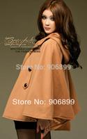 2014 New Fashion Women Dress Cloak Style Sleeve Outwear Winter Coat #8890