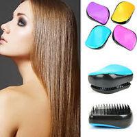 4 pcs New 2014 Detangling Hair Brush Professional Styling Comb Shiny Hot Pink Fashion Brushes Retail