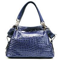 ( sapphire ) Crocodile Embossing Handbag Split Leather Ladies' Handbag shoulder bag