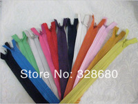 Free shipping- 2014 #3 ultra-thin invisible zipper Garment zipper length:53cm 35colors 100pcs/lot