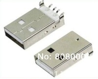 Free shipping 100 / lot USB Type-A 4Pin Male Panel Mount SMT Connector