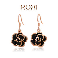 ROXI Exquisite flower Earrings platinum plated with AAA zircon,new style for women party ,stud earrings for Christmas