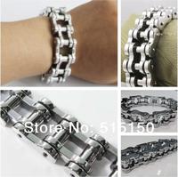 width of 16.0mm huge&heavy fashion links chain bracelet as 316L stainless steel motorcycle bike bangle for men punk biker