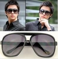 Hot-selling double anti-uv sun glasses oversized sunglasses large sunglasses male women's