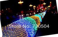 2set/lot LED Net Light Multi color Web Fairy Lights 3m x 2m 320Led String lamp decoration Free Shipping