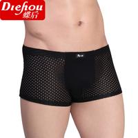 1056 regeneration after fiber male boxer panties men's cutout panties breathable