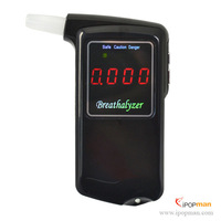 2014 new 100pcs accuracy Professional Digital LED Display Alcohol Tester AT858 car gadget with 5 mouthpieces DHL Free Shipping