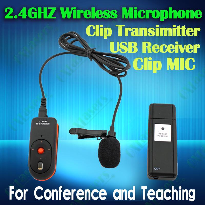 Vendita calda! Oxlasers cravatta clip bavero 2.4g microfono senza fili per gli insegnanti conferenza microfono per la promozione delle vendite