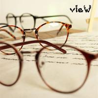 Free shipping! 2014 Most popular eyeglasses Men/Women round frame eyewear Fashion eye glasses oculos de grau have lens myopia
