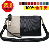 2014 female clutch big day genuine leather one shoulder cross-body bags female fashion Messenger bags bolsas femininas