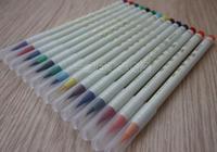 2014 multicolour watercolor pen soft brush cartoon pen 14 inks