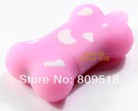 Pink Cute Bone USB Drive 1GB 2G 4GB 8GB 16GB 32GB Memory Flash Stick 2.0 Pendrive Genuine