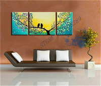 3 Union The latest Fly together Home decoration Paintings Wholesale Cheap Abstract the Modernist Wall Art Oil Painting Picture