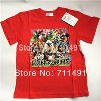 2013 summer Kamen Rider Fourze children's clothing boys clothing kid's short-sleeve T-shirt child t shirts free shipping