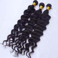 Brazilian virgin hair deep wave 4 pcs/lot queen hair products unprocessed free shipping100% remy human hair