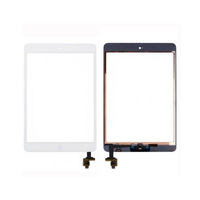 New Touch Panel Glass Digitizer Screen Repair Parts+Home Button Tools Adhesive Sticks for Tablet PC iPad mini 2 Black /White