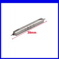 Free shipping 1mm x 5mm x 39mm HSS Electrical B Type Center Drill Bits Gray 10pcs