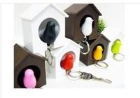 100pcs New 2014 Sparrow Keychain Bird Key Chain Trinket Key Ring -- CPA07 Wholesale & Retail Free Shipping