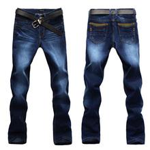 2014 fashion brand designer men's denim jeans pants  Mens Jeans Slim Fit Classic denim men Jeans Trousers Straight Leg Blue(China (Mainland))