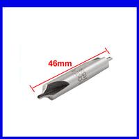 FREE SHIPPING 2mm x 8mm x 46mm HSS B Center Spotting Drill Bits Countersinks Gray 10PCS