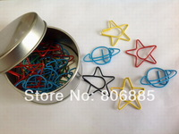 Guarantee Genuine 1.2mm dia.,vinyl wrapped wire Celestial body shaped paper clips,Designer shaped paper clips+Free custom shapes