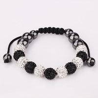 Shamballa jewelry Wholesale, free shipping, New Shamballa Bracelets Micro Pave CZ Disco Ball Bead Shamballa Bracelet SBB185
