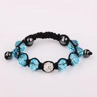 Shamballa jewelry Wholesale, free shipping, New Shamballa Bracelets Micro Pave CZ Disco Ball Bead Shamballa Bracelet SBB175