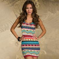 slim hip fashion sexy Floral  Ladies Bodycon Party Evening Tank dress clubwear Y0015