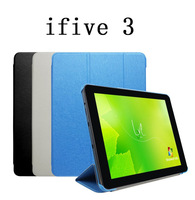 Free shipping ,9.7inch  Ifive 3 Magnetic Slim Folding Flip Case Cover Stand with Wake Sleep function + one OTG as gift