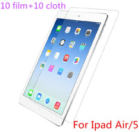 Free Shipping!!10sets High Clear LCD Screen Guard Film For ipad5 ipad 5 For Ipad Air Screen Protector