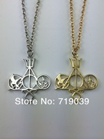 20pcs/lot Fashion movie necklace mix The Mortal Instruments Hunger Games Divergent Percy Jackson HARRY POTTER for collection Hot