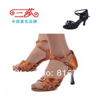 Women's Latin dance shoes dance shoes soft outsole dance shoes dance shoes square jazz dance 218( heel 7 cm)
