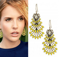 Min/Mix Order $10.0 2014 New Brand Fashion Jewelry Stella Yellow and Vintage Gold Norah Chandeliers Earrings
