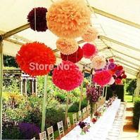 200 pcs 25cm 10 inch Paper Flowers Poms /  Tissue Paper Pom Wedding Decor Party Craft Supplies