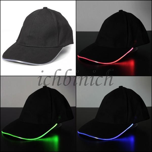 Casquette LED Lumineuse Glow Eclairage Sport Chapeaux Hip-hop Golf Lighted Hat Baseball Cap Basecap Baseballcap Kappe Muetze(China (Mainland))