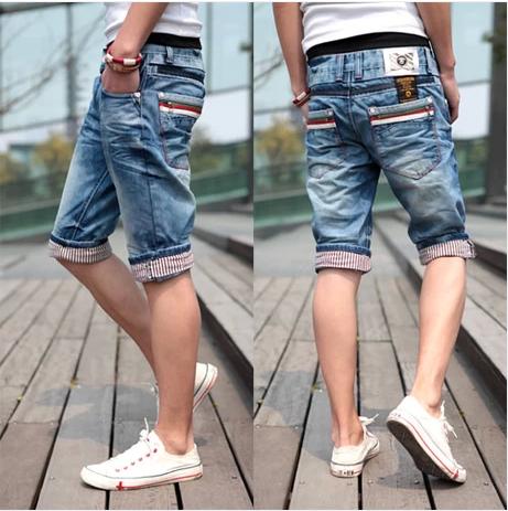 2014 new designer perfumes 100 original men short jeans bermuda shorts man brand jeans denim shorts men jenas(China (Mainland))