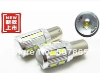 2x Super Bright White 12SMD 5630 + CREE 5W  1156 Ba15s S25 P21W Backup Reverse Light Bulb car led