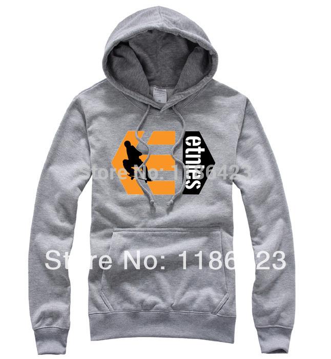 Free shipping 2014 hot fashion spring skateboard Hip hop sweatshirt Harajuku etnies brand kpop cotton top hoodies hoody for men(Canada)
