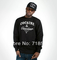 COCAIN AND CAVIAR SWAG TUMBLR HIPSTER MAN SWEATSHIRT SWEATER JUMPER MEN(For Autumn and Winter)
