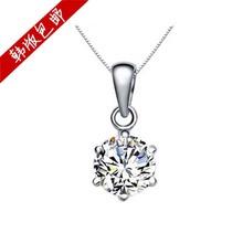 Single pendant brief necklace accessories silver bitellos pendant