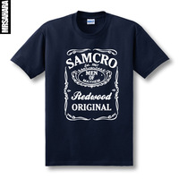 Free shipping 2014 new unisex (men /women) tv episodes Sons of anarchy print short-sleeve T shirt samcro sitcoms male100% cotton