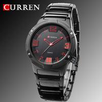 2014 new curren watches men luxury brand military watch men full steel wristwatches fashion casual waterproof army sports quartz