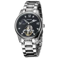 New Fashion  Sapphire Tourbillon automatic mechanical watch men watch men strip Mechanical Wristwatch