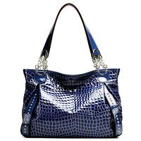 ( Sapphire)2P0906  series Crocodile Embossing Handbag Split Leather Ladies' Handbag