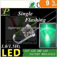 (TOP LED Supplier) 1.5Hz Green Blinking led diode single color flashing led 3.0-3.5V