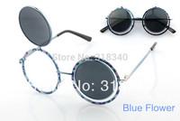 STEAMPUNK round Designer steam punk Metal OCULOS de sol women COATING SUNGLASSES New Men Retro CIRCLE Sun GLASSES gafas s0004