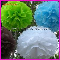 Wholesale - Free Shipping 10pcs 30cm Tissue Paper Pom Poms Wedding Party Decor Craft festival decoration