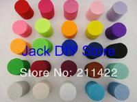 25colors 2500pcs/lot 100pcs/color/bag 25mm Colorful Felt Pads Circle for you DIY Free shipping